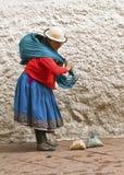Vendedor ambulante indígena Foto de archivo