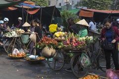 Vendedor ambulante típico em Hanoi, Vietname Imagem de Stock Royalty Free