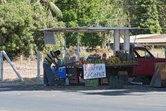 Vendedor ambulatório do fruto em Playa del Coco, Guanacaste, Costa Rica foto de stock royalty free