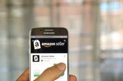 Vendedor app del Amazonas Fotos de archivo libres de regalías