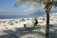 Vendedor brasileño Rio de Janeiro Brazil del hielo Fotografía de archivo