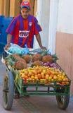 Vendedor colombiano da fruta imagens de stock