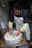 Vendedor cozinhado chinês do bolo Fotografia de Stock Royalty Free