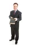 Vendedor cristiano del misionario o de la biblia Imágenes de archivo libres de regalías