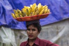 Vendedor da banana Imagem de Stock