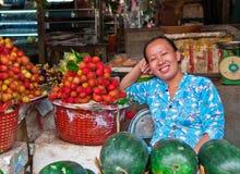 Vendedor da fruta Fotografia de Stock Royalty Free