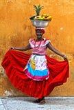 Vendedor da fruta de Palenquera Imagens de Stock