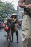 Vendedor da mulher, Hanoi, Vietname Fotografia de Stock