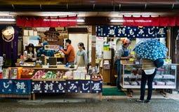 Vendedor de alimento Fotografia de Stock