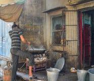 Vendedor de alimento em Jodhpur, Índia foto de stock