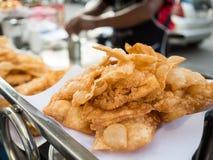 Vendedor de alimento friável tailandês da rua do roti fotografia de stock royalty free