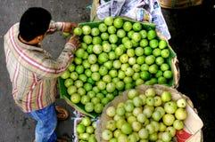 Vendedor de calle del mango imágenes de archivo libres de regalías