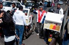 Vendedor de calle en Mauricio Fotos de archivo libres de regalías