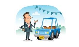 Vendedor de coches Imagenes de archivo