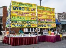 Vendedor de comida en Vinton Dogwood Festival Imagen de archivo libre de regalías