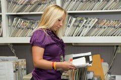 Vendedor de fichero Fotografía de archivo libre de regalías