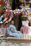 Vendedor de la cometa, la India Foto de archivo