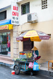 Vendedor de la fruta en Vietnam Fotos de archivo libres de regalías