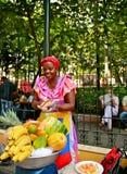 Vendedor de la fruta, Palenquera, Cartagena, Colombia Imagenes de archivo