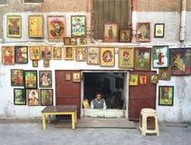 Vendedor de la imagen, Jodhpur, la India Imagen de archivo libre de regalías