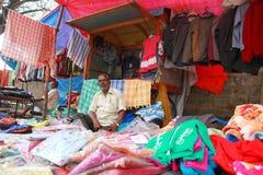 Vendedor de la materia textil Imágenes de archivo libres de regalías