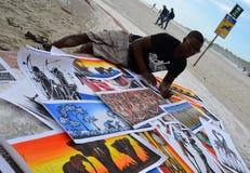 Vendedor de la playa Imagen de archivo libre de regalías