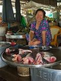 Vendedor de los pescados Imagenes de archivo