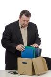 Vendedor de mediana edad de frustración Fotos de archivo libres de regalías