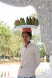 Vendedor de Myanmar imagen de archivo libre de regalías