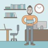 Vendedor de oficina Imagen de archivo libre de regalías
