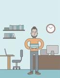 Vendedor de oficina Foto de archivo libre de regalías