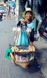 Vendedor de rua Fotos de Stock Royalty Free