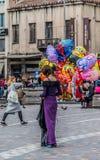 Vendedor de rua do balão imagens de stock royalty free