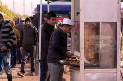 Vendedor de Shawrma Imagem de Stock