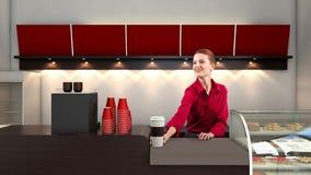 Vendedor del café Imagen de archivo libre de regalías