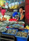 Vendedor del camarón imágenes de archivo libres de regalías