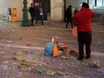 Vendedor del carnaval Imagen de archivo