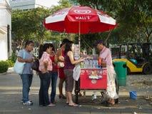 Vendedor del helado Fotografía de archivo