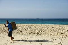 Vendedor del helado en la playa de Boracay Fotografía de archivo