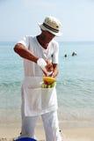 Vendedor del maíz Imagen de archivo