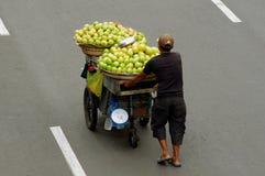 Vendedor del mango fotografía de archivo