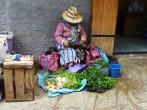 Vendedor del mercado en Morroco Imagenes de archivo
