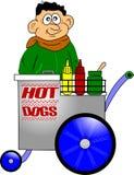 Vendedor del perrito caliente stock de ilustración