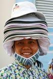Vendedor del sombrero Foto de archivo libre de regalías