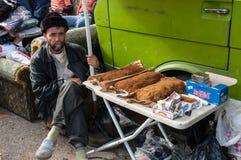 Vendedor del tabaco en Líbano Imágenes de archivo libres de regalías