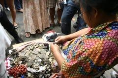Vendedor del talismán Foto de archivo libre de regalías