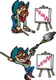 Vendedor do cowboy ilustração stock