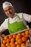 Vendedor do fruto Fotografia de Stock