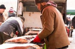 Vendedor dos peixes em Iraque Imagens de Stock