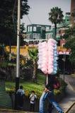 Vendedor dulce del algodón fotografía de archivo libre de regalías